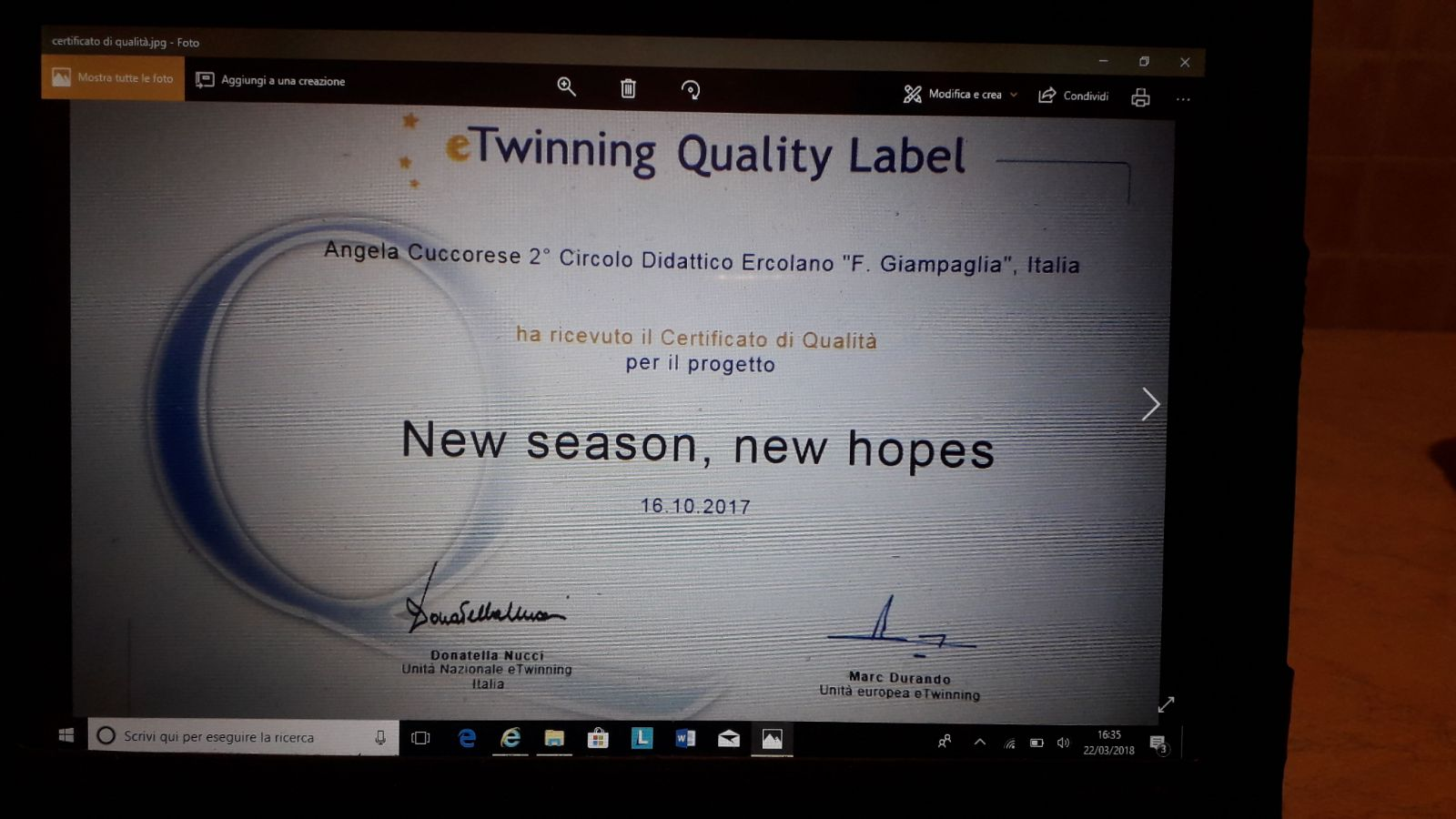 E-Twinning Quality Label
